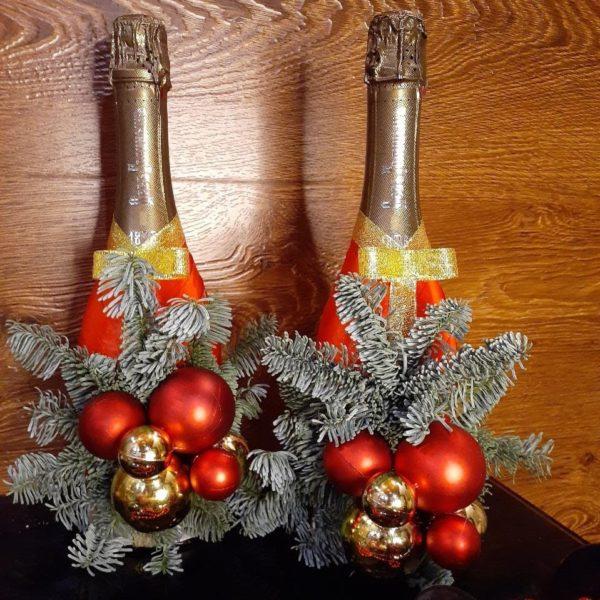 Украшение на бутылку шампанского 00145