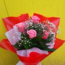 Букет из 5 розовых роз с доставкой - Мастерская Lideski Смоленск
