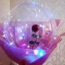 Роза в шаре со светодиодной лентой